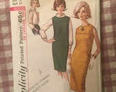 """Vintage 1960s Simplicity 5537 Size 10 Bust 31"""" - Vintage Simplicity / 60s Simplicity / 60s / Jumper and Blouse / Bias Roll Collar"""