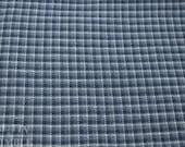 Vintage Flannel Fabric / Plaid Flannel / Vintage Fabric - 7/8 Yard - Blue Flannel / Pajama Fabric / Blue Flannel Plaid / Cotton Flannel