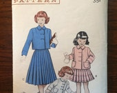 "Vintage 1950s Butterick Girl's Suit Pattern #6236 Size 2, Breast 21""  - 1950s Butterick / 50s Butterick / 19"