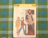 Vintage Sewing Pattern / Women's Smock Pattern / Flutter Sleeve / Simplicity 5796 / Bust 38 / 70s Pants Pattern / How to Sew /QUICK LIST