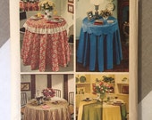 Vintage Tablecloth Pattern / 1970s Housewares Pattern / Simplicity 5771 - Decorator Pattern  - Round Tablecloth / Homewares Pattern