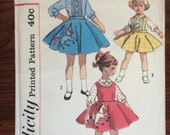 Poodle Skirt Pattern / Girl's Dress Pattern / Girl's Skirt Pattern / Simplicity 2287 - Circle Skirt / Jumper Pattern / Blouse Pattern