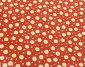 Red and White Printed Fabric - 1 1/2 Yard - Cotton Fabric / Red and White Fabric / Printed Fabric / Red Fabric / Dot Print Cotton