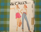 1970's Pants Pattern / Flared Shorts Pattern / McCall's 6634 / Bias Shorts / Tapered Pants / Vintage Sewing Pattern for Women / QUICK LIST