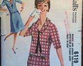 Vintage 1960 McCall's Misses Dress Pattern #6119 Size 14 Bust 34 - Vintage McCall's Pattern / 60s McCall's / 60s Dress Pattern