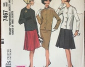 "Misses Jacket and Skirt Pattern #7467 Vintage 1964 McCall's  Size 14 Bust 34""  Vintage McCall's Pattern / 60s McCall's"