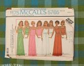1970s Dress Pattern / Knit Dress Pattern / McCall's 5765 / Bust 32 34 / Maxi Dress Pattern / Vintage Sewing Pattern for Women / QUICK LIST