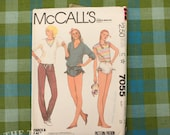 Gather Shorts Pattern / Vintage Sewing Pattern / 1980's Shorts Pattern / McCall's 7055 / Bust 28 / T Shirt / Stretch Knit / QUICK LIST