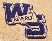 Vintage Applique / Cheerleader Patch / Letterman Jacket / Beverly High School / Vintage Letter / Cheerleader Applique / Patch / WS
