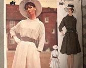 "Vintage 1960s Vogue Couturier Designs 1991 Sybil Connolly Dress Size 12 Breast 34"" / Vintage Vogue / Vogue Designer / Altered But Complete"