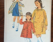 "1960s Simplicity Girl's Dress and Smock Pattern #6599 Size 10, Breast 28""   Vintage Simplicity / 60s Simplicity / 60s"