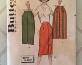 1960s Skirt Pattern / Vintage Sewing Pattern / Butterick 8759 / Hip 36 - Pencil Skirt Pattern / Straight Skirt / Easy Skirt / Quick Skirt