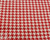 Red & White Cotton - 1 1/4 Yards Houndstooth / Red White Houndstooth / Houndstooth Fabric / Lightweight Cotton / RTC Fabrics / Houndstooth