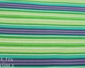Green & Purple Stripe Fabric / Cotton Fabric -1 Yards- Stripes / Cotton Stripe / Green Stripe / Striped Fabric / Purple Stripe Fabric