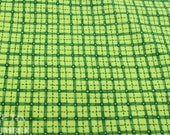 Plaid Flannel / Vintage Cotton Fabric / Green Plaid / Plaid / 1 Yard / Fabric by Yard / Cute Flannel / Bright Green / Printed Flannel
