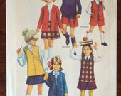 Girl's Culottes Pattern / 1960s / Simplicity 8376 / Jacket Pattern / Vest Pattern / Skirt Pattern / Pantskirt Pattern / Size 4 Bust 23