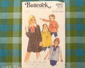 Vintage Sewing Pattern / Girl's Dress Pattern / Tunic Pattern / Butterick 4987 / Size 7 / Yoked Top Pattern / 1970s Pattern /QUICK LIST