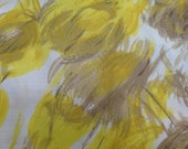 Vintage 1970's Printed Polyester Fabric - 1 Yard - Vintage Fabric / Silky Fabric / Vintage Silky / Polyester Fancy Fabric / Faux Silk