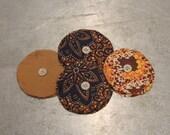 Yo Yo Circles Vintage 1930's  -  Approximately 4 Doz.  / Vintage Yo Yo / Vintage Quilt Supplies / Quilt Pieces