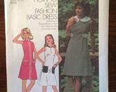 Vintage 1970s Simplicity Dress Pattern #6809 Sz 10 Bust 32.5  Vintage Simplicity / 70s Simplicity / 70s Pattern