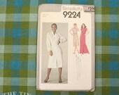 Dress Pattern / 1970's Maxi Dress / Vintage Sewing Pattern / Simplicity 9224 / Size 14 / Gathered Yoke / Button Up Dress / QUICK LIST