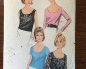 Vintage Blouse Pattern 1960s Butterick  #3301 Size 12 Bust 32 - 1960s Butterick / 60s Butterick / 19 Butterick Pattern