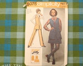 Vintage Sewing Pattern / Women's Tunic Pattern / Mini Skirt Pattern / Simplicity 5075 / Bust 36 / Pants Pattern / 1970s Vest /QUICK LIST