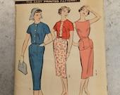 Vintage Sewing Pattern / Advance Dress Pattern / Advance 8644 / Size 16 Bust 36 / Pencil Skirt Pattern / Advance Pattern / 1950s Fashion