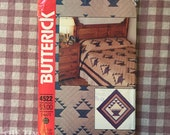 Fruit Basket Quilt Pattern / Butterick 4522 / 1980's Quilt Pattern - Beginner Quilt Pattern / Twin Double Queen King / Quilt Picture