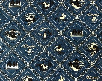Ride 'Em Cowboy Print by Robert Kaufman for Studio K Fabrics - Design #14225 - By the Yard - 100% Cotton