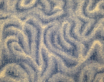 Blue and White Swirls Cotton Fabric - 1-7/8 Yards / Quilting Cotton / Swirl Print / Blue and White / Spray Paint / Tie Dye Look / Abstract