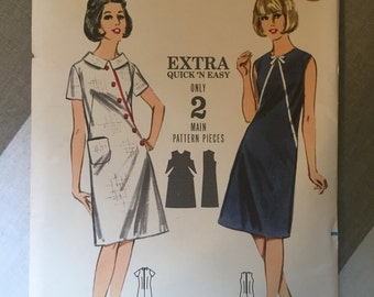 "Beach Dress Vintage 1960s Butterick 3543 Size 14 Bust 34"" - NC - 1960s Butterick / 60s Butterick / 19"