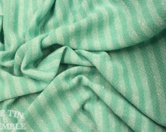 Green French Terry Cloth - Cotton Spandex blend in Bright Green - 5/8 Yards