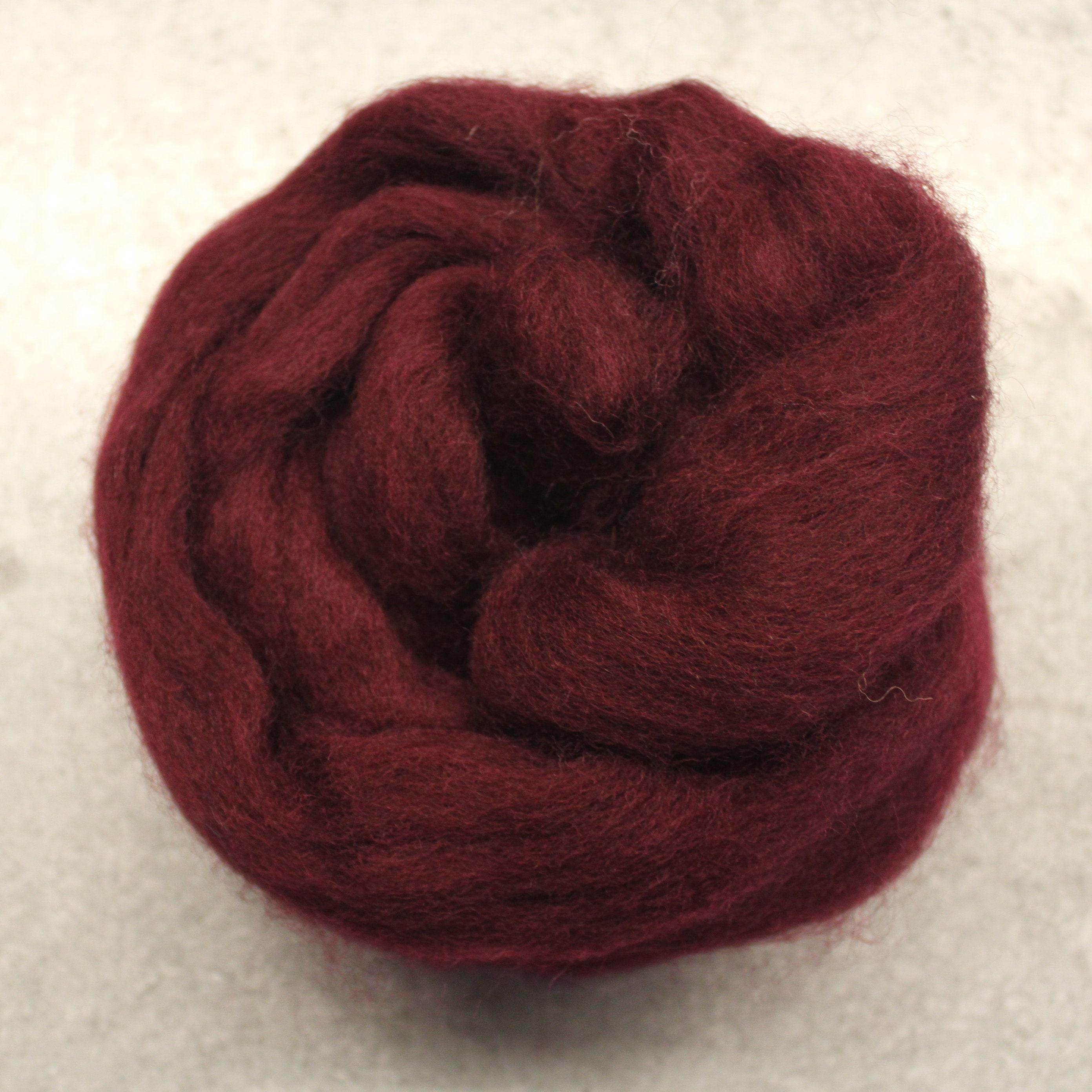 Corriedale  Wool Roving Color Brown