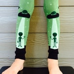UFO, Alien Leg Warmers or Arm Warmers for Boy or Girl - Baby, Toddler Legs - Kid, Tween Legs or Arms - Birthday, Baby Shower, Gift