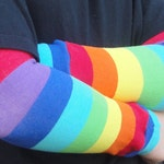 Rainbow Stripe Leg Warmers, Baby, Toddler, Kid, Tween, Boy or Girl - Kid, Tween Arm Warmers - Gift, Baby Shower, Birthday, Halloween Costume
