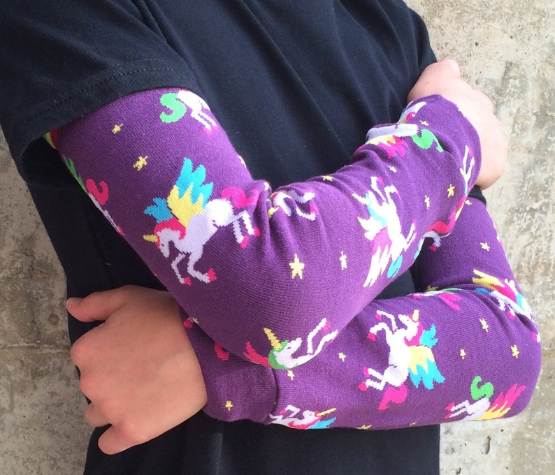 Winged Unicorn Leg Warmer or Arm Warmers for Boy or Girl  image 0