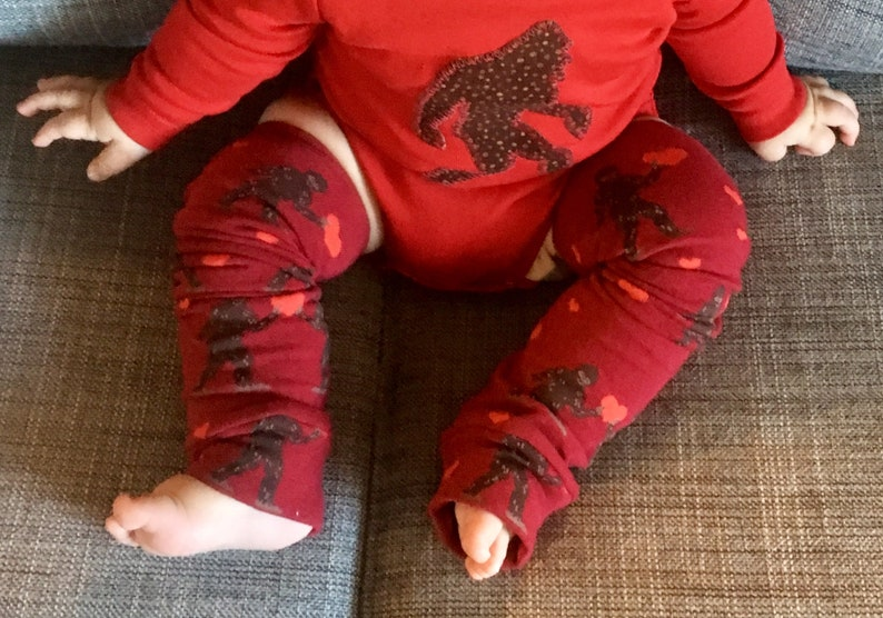 Valentine Bigfoot Leg or Arm Warmers for Boys and Girls  image 0