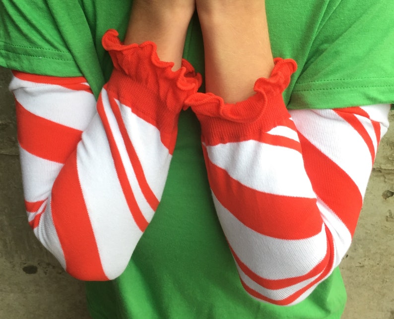 Candy Cane Leg or Arm Warmers for Boys and Girls  Baby image 0