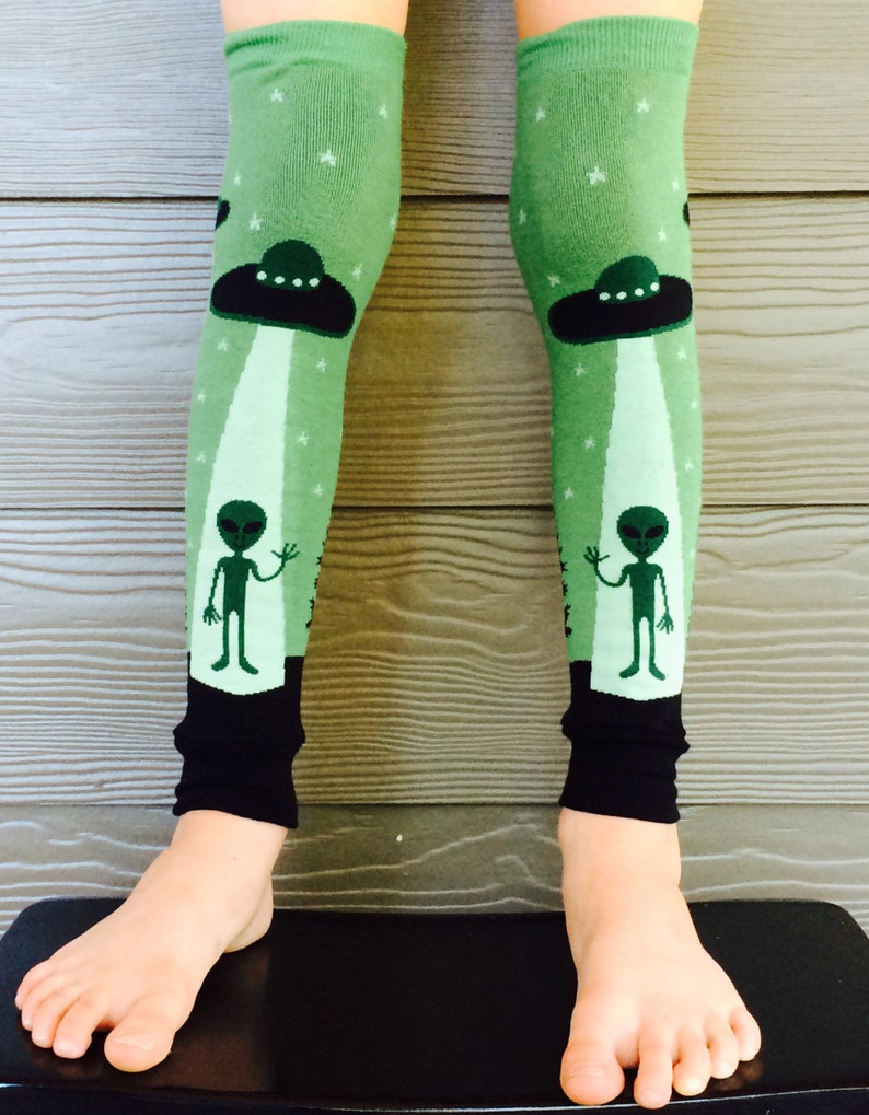 UFO Alien Leg Warmers or Arm Warmers for Boy or Girl  Baby image 0