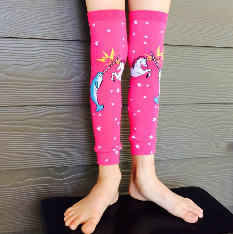 Narwhal Unicorn Leg Warmer or Arm Warmers for Boy or Girl  image 0