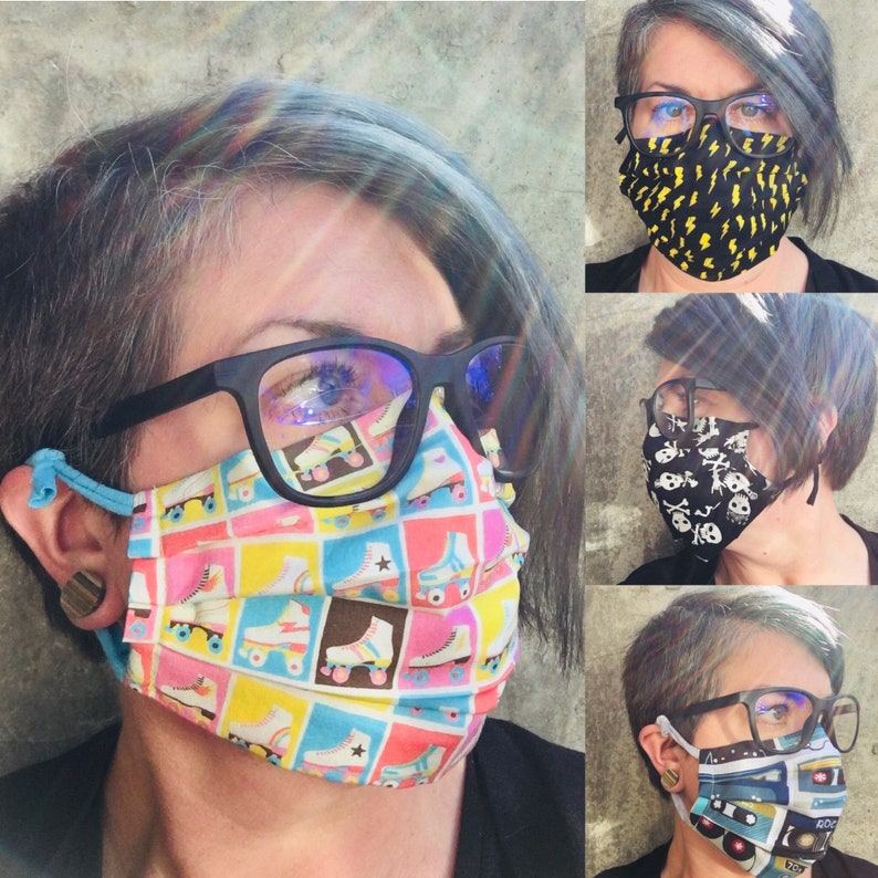 Face Masks  Washable Double Layer Cotton with Filter Pocket image 0