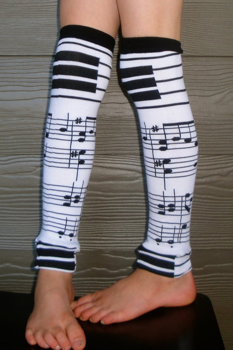Piano Music Leg Warmers or Arm Warmers for Boy or Girl  Baby image 0