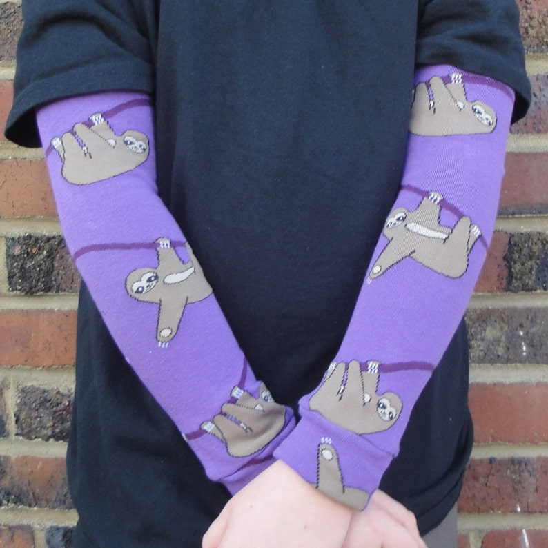 SLOTH Leg Warmers or Arm Warmers for Boy or Girl  Baby image 0