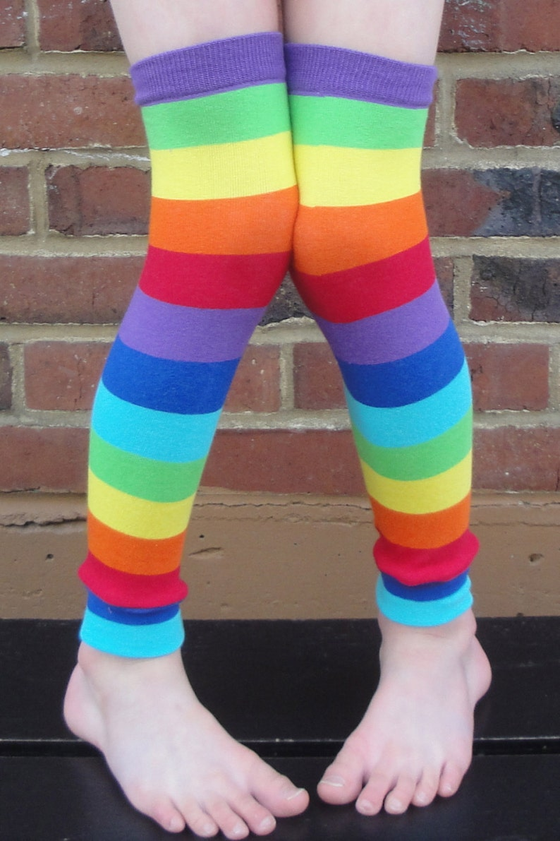 Rainbow Costume Leg Warmers or Arm Warmers for Boy or Girl  image 0