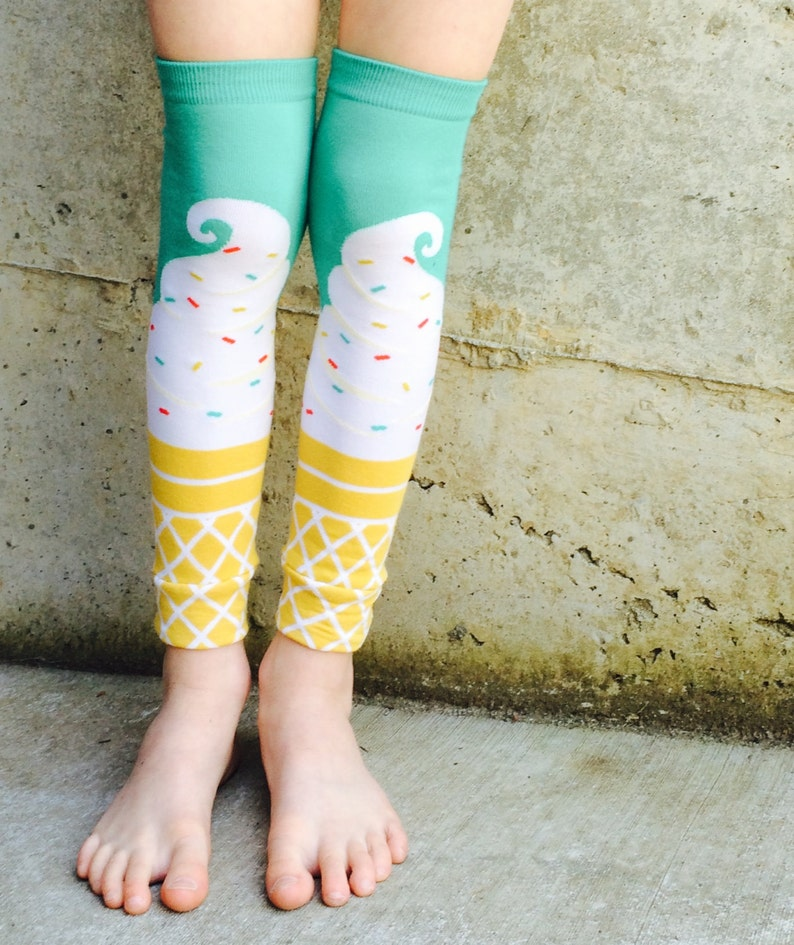 Ice Cream Leg Warmer or Arm Warmers for Boy or Girl  Baby image 0