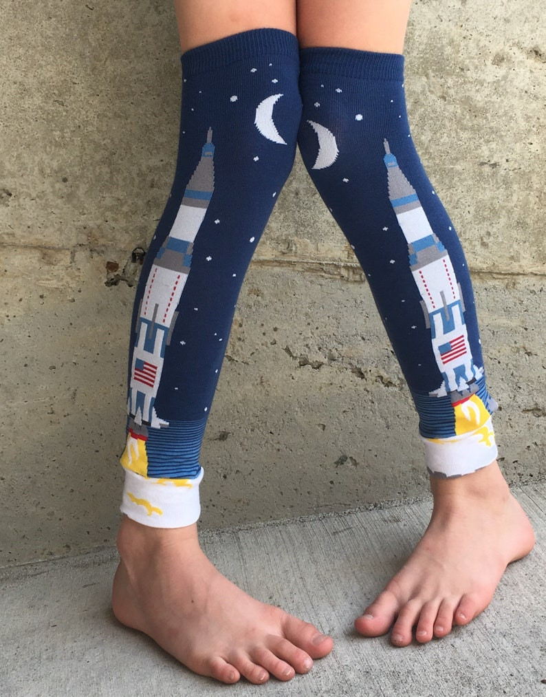 USA Rocket Leg or Arm Warmers for Boys Girls  Space Leggings image 0