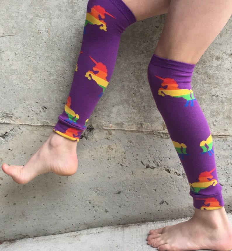 Rainbow Unicorn Leg Warmers or Arm Warmers for Boy or Girl  image 0
