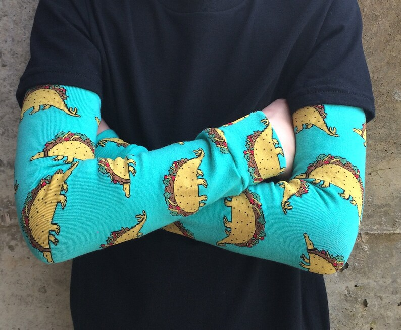 Dinosaur Taco Tacosaurus Leg or Arm Warmers for Boys and Girls image 0