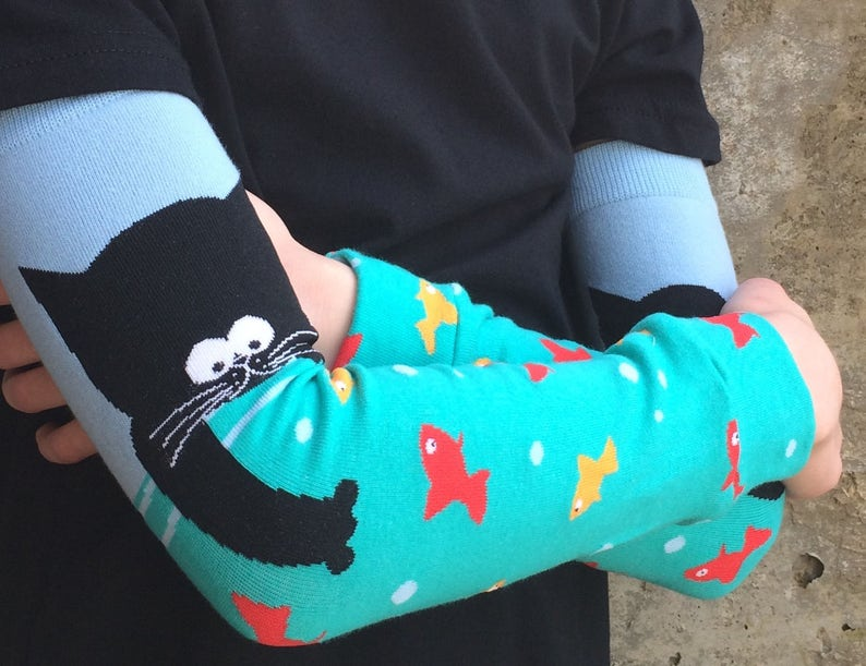 Cat Leg Warmers or Arm Warmers for Boy or Girl  Baby Toddler image 0